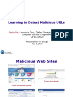 Machine learning to detect malicious url