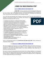 o Simbolismo Da Maconaria PDF