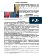 Biografía Camila Gallardo