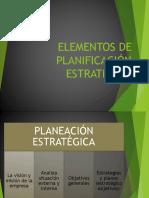 Elementos de Planificación Estratégica