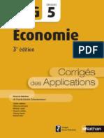 Nathan - DCG UE 5 - Économie - Manuel & Applications - 3e édition 2016 - Corrigés.pdf