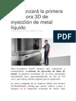 XJet lanzará la primera impresora 3D de inyección de metal líquido.docx