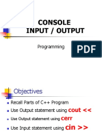 Lecture - Console in Console Out AY1819