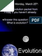 2 - evolution notes
