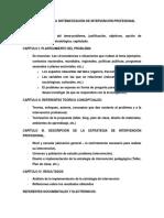 CAPITULADO PARA SISTEMATIZACIÓN DE INTERVENCIÓN PROFESIONAL