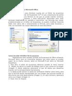 Editor de Ecuaciones Office