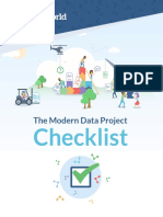 Modern Data Project Checklist