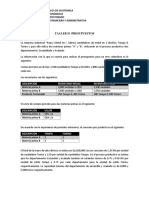 Taller II -Presupuestos
