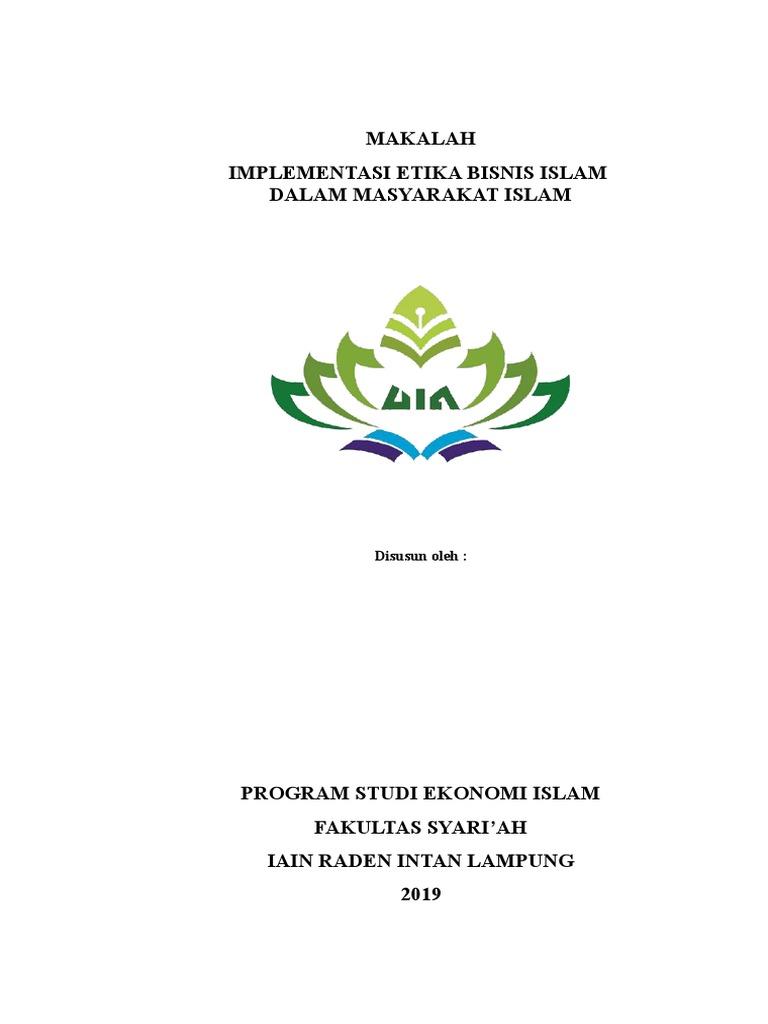 Makalah Implementasi Etika Bisnis Islam Doc