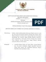 Keputusan Menteri ESDM Nomor 20 K 12 MEM 2019 Tentang ICP Januari