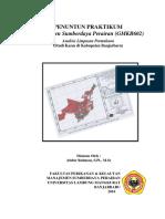 Petunjuk Praktikum Limpasan Permukaan Banjarbaru