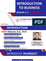 Introduction to Business - Session 1