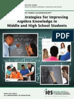 Teaching Strategies for Improving Algebra Knowledge in Middle School & High School Students REVISED 01.2019-- Star, Et Al