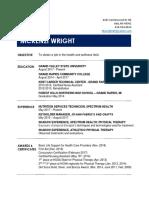 resume of mckenzi wright