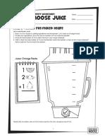 MooseJuice RecipeMaker Worksheets