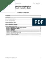 Administrative Analysis Grade Evaluation Guide