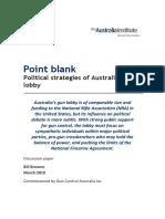 Australia Institute Gun Lobby report