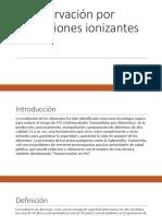 Conservación Por Radiaciones Ionizantes