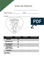 Examen 2do Grado - Febrero.doc