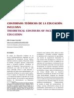 Contornos Teóricos de la Educación Inclusiva