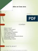 Presentation on Core java