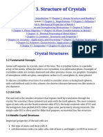 Chapter 3. Structure of Crystals