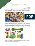 Siete Tipos de Plástico y Lo Que Debes Saber Sobre Ellos