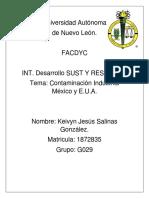 Mexico y e.u.a Contaminacion Industreal