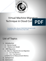 Virtual Machine Mirgation Technique