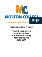 NUR 105 Basic Nursing Assistant Handbook 2013 2014