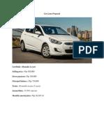 Car Loan Proposal