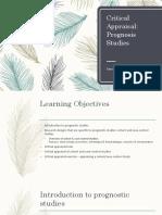 Lecture 8 - Critical Appraisal Prognostic Studies(1)