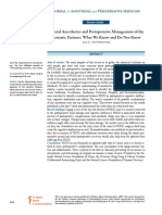 General Anesthetics and Perioperative Management o
