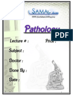 Pathology, Lecture 9 (Lecture Notes)