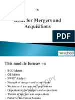 06 Basis for Mergers and Acquisitions