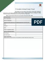 Laois 2019 Creative Ireland Grants Application Form