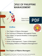 A Profile of Philippine Management