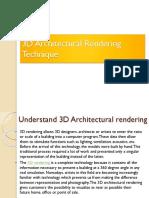 3D Architectural Rendering Technique