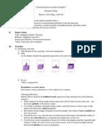 Semi-detailed Lesson Plan in English (Grade 7)