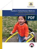 Rehabilitation Medicine Paediatrics Advanced Training Curriculum