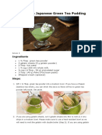 How to Make Japanese Green Tea Pudding