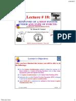 Lecture 18 Mechanical Vibrations