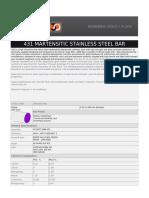 431 Martensitic Stainless Steel Bar
