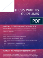 Thesis Writing Guidelines