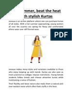 This summer, beat the heat with stylish Kurtas-converted.pdf