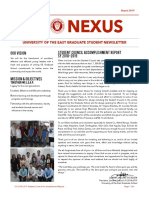 Graduate Student Council Accomplishment Report SY 2018-2019