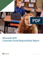 Microsoft 2018 CSR Annual Report