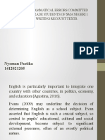 Analysis of Grammatical Errors Committed by the Tenth