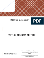 Foreign Business Culture