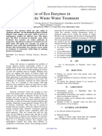 Use of Eco Enzymes in Domestic Waste Water Treatment